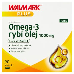 Walmark Plus Omega-3 rybí olej forte 1000 mg 90 tobolek 123,8g