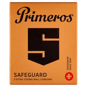 Primeros Safeguard extra silné kondomy pro mimořádné zatížení se svěží vůní, 3 ks