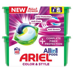 Ariel Allin1 Pods +Complete Fiber Protection Kapsle Na Praní 48 Praní