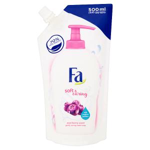 Fa krémové mýdlo náhradní náplň Soft & Caring Acai Berry Scent 500ml