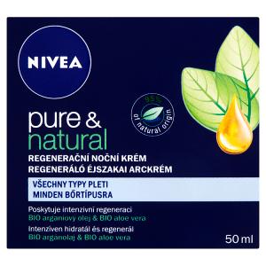Nivea Pure & Natural Regenerační noční krém 50ml