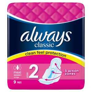 Always Classic Long Hygienické Vložky SKřidélky 9ks