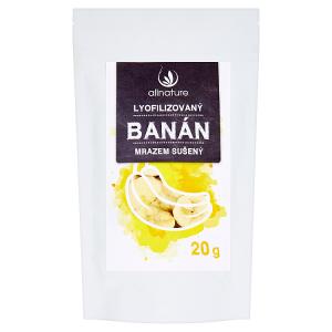 Allnature Lyofilizovaný banán mrazem sušený 20g