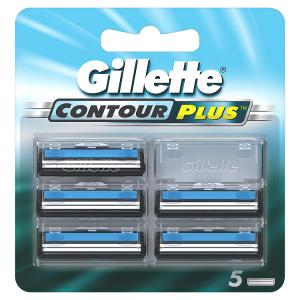 Gillette Contour Plus Hlavice KHolicímu Strojku, 5ks