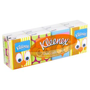 Kleenex Kids Collection papírové kapesníky 4-vrstvé 8 x 7 ks
