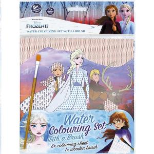Vodové omalovánky se štětcem Ledové království 2