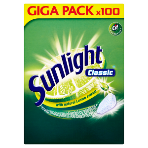 Sunlight Classic Tablety do myčky nádobí 100 ks 950g