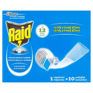Raid Elektrický odpařovač a polštářky proti komárům