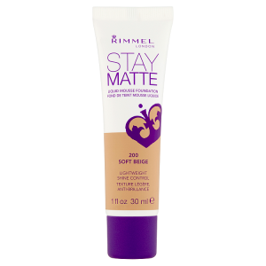 Rimmel London Stay Matte Make-up 200 soft beige 30ml