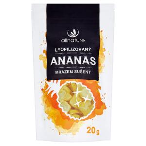 Allnature Lyofilizovaný ananas mrazem sušený 20g