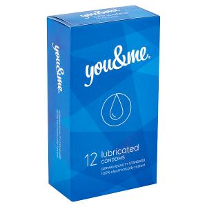 You & Me Lubricated průhledné hladké lubrikované kondomy, 12 ks