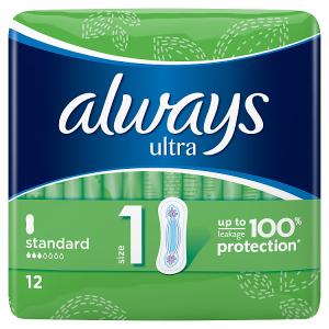 Always Ultra Normal Vel.1 Hygienické Vložky 12ks