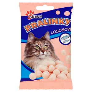 Akinu Pralinky lososové doplňkové krmivo pro kočky 40g