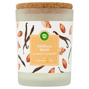 Air Wick Essential Oils Vanilka & sladké mandle svíčka 185g