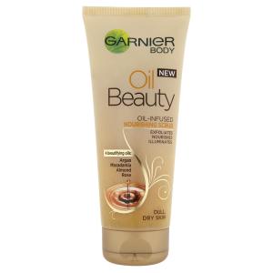 Garnier Beauty Oil olejový tělový peeling 200ml