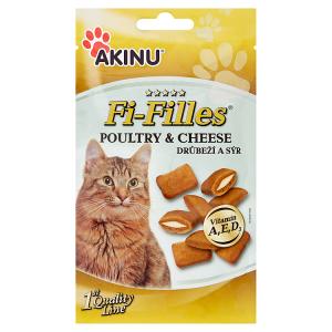 Akinu Fi-Filles plněné kapsičky pro kočky drůbeží a sýr 50g