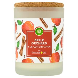 Air Wick Essential Oils Jablečný sad & Cejlonská skořice svíčka 185g