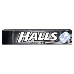 Halls Dropsy s extra silnou příchutí mentolu a eukalyptu 33,5g