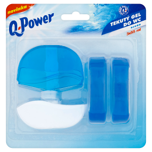 Q-Power Tekutý gel do WC oceán 3 x 55ml