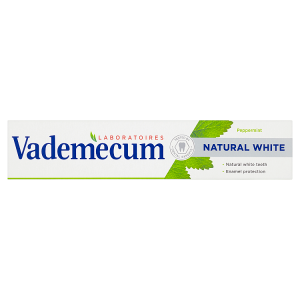 Vademecum zubní pasta Natural White Peppermint 75ml