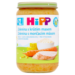HiPP Bio zelenina s krůtím masem 220g