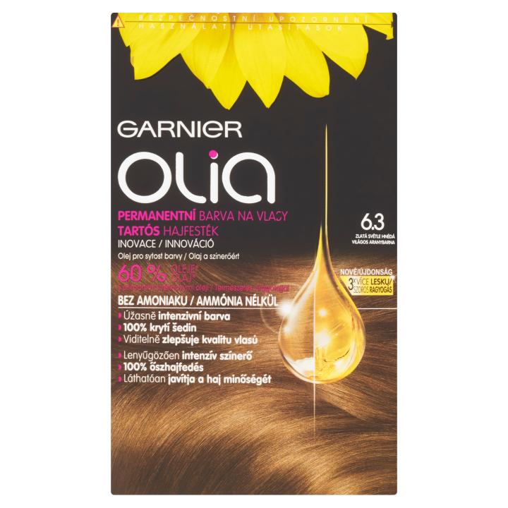 Garnier Olia Permanentní barva na vlasy zlatá světle hnědá 6.3