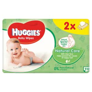 Huggies Natural Care dětské ubrousky 112 ks