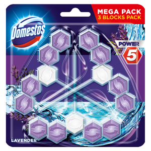 Domestos Power 5 Lavender WC blok 3 x 55g