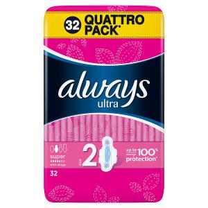 Always Ultra Long Vel.2 Hygienické Vložky SKřidélky 32ks