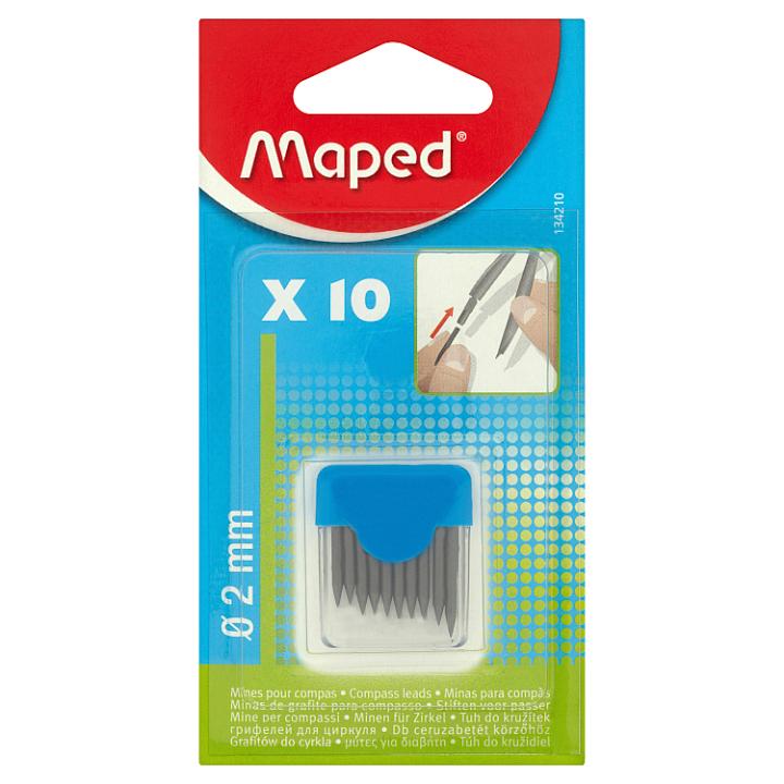 Maped tuhy do kružítka 2 mm 10 ks