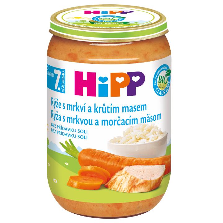 HiPP BIO Rýže s mrkví a krůtím masem 220 g