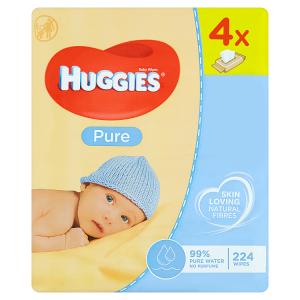 Huggies Pure Dětské ubrousky 244 ks