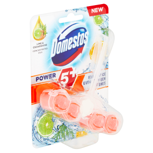 Domestos Power 5 Lime & Cedarwood WC blok 55g