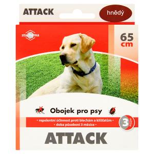 Attack Obojek pro psy 65cm hnědý