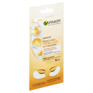 Garnier Skin Naturals povzbující oční maska obohacená o šťávu z pomeranče a kyselinu hyaluronovou 6g