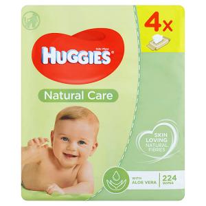 Huggies Natural Care dětské ubrousky 224 ks