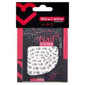 Diva & Nice Samolepící obtisky na nehty