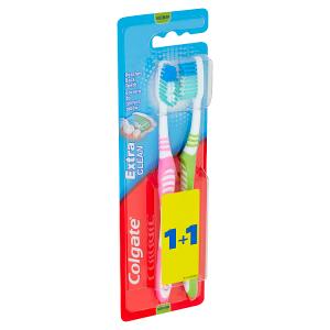 Colgate Extra Clean Střední zubní kartáček 2 ks