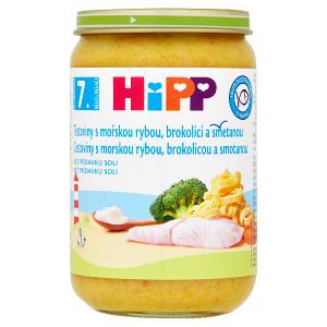 HiPP Těstoviny s mořskou rybou, brokolicí a smetanou 220g