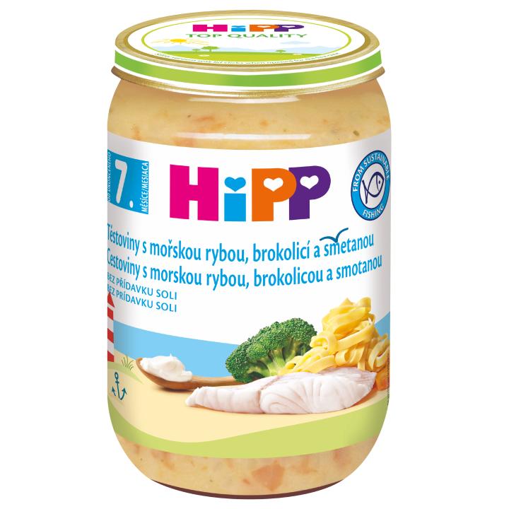 HiPP Těstoviny s mořskou rybou, brokolicí a smetanou 220 g