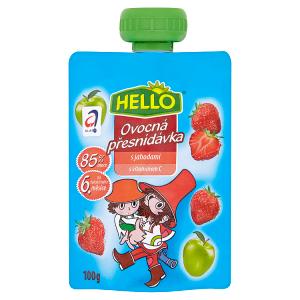 Hello Ovocná přesnídávka s jahodami 100g