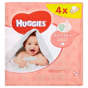 Huggies Soft Skin dětské ubrousky 224 ks