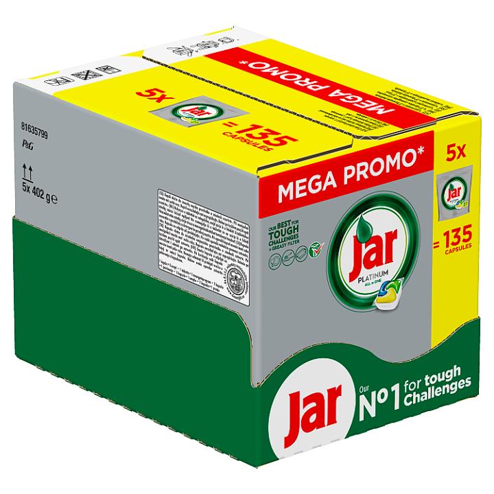Jar Platinum Kapsle Do Automatické Myčky Nádobí Lemon 135 Ks