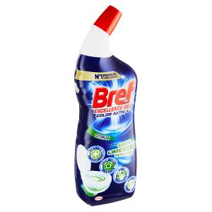 Bref Excellence Gel Color Activ+ Citrus kapalný WC čistič 700ml