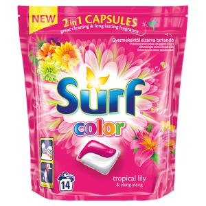 Surf Color tropical prací duo-kapsle na barevné prádlo 14 dávek
