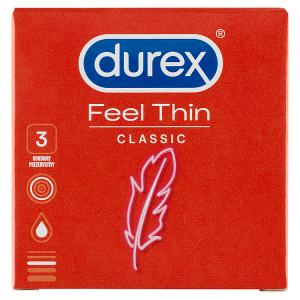 Durex Feel Thin Classic kondomy 3 ks