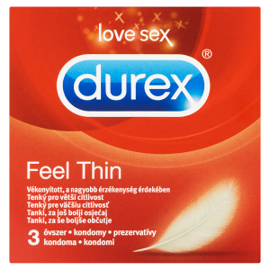 Durex Feel Thin kondomy 3 ks