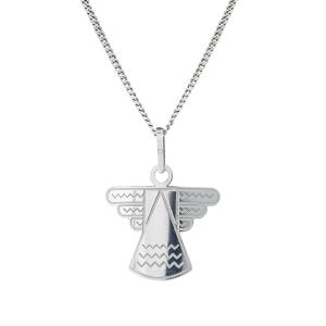 PRAQIA Stříbrný přívěsek na řetízku Angel
