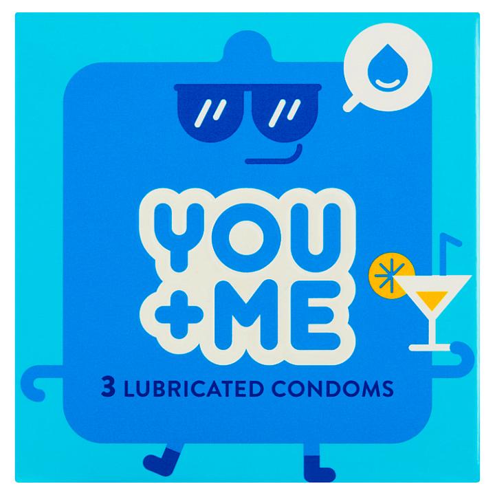 You Me Lubricated kondomy, 3 ks