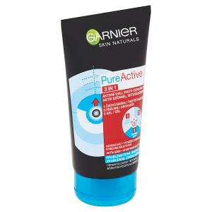 Garnier Skin Naturals Pure Active 3v1 aktivní uhlí proti černým tečkám 150ml